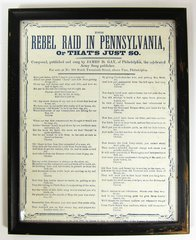 Song Sheet The Rebel Raid In Pennsylvania, or Thats's Just So
