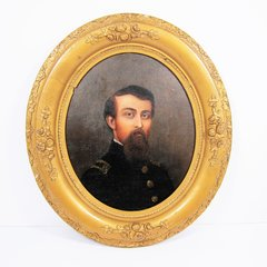 Oil On Artist Board Of Lieutenant Charles Cary