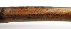 Civil War Battle of Seven Pines Relic Cane Made By Confederate Captain J. E. Lyne
