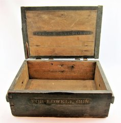 "Scarce Civil War Ammunition Crate for the ""Lowell Gun"""