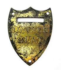 Civil War U.S. Saddle Shield