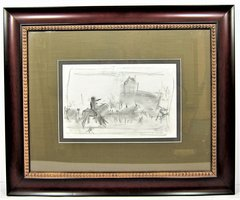 Original Pencil Sketch of Rendezvous with Destiny by Mort Kunstler