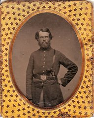 Corporal Aaron N. Burr 147th Reigment, Company C, NYSV Wartime Letter and 1/9th Plate - Gettysburg Unit
