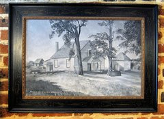 Original Painting Of The House In Which General Stonewall Jackson Died, VA