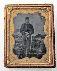 Cavalry Trooper Tintype Quarter Plate