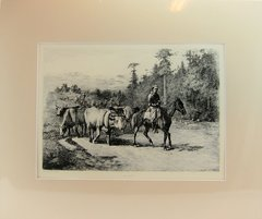 Edwin Forbes Engraving Plate No. 7, The Leader of the Herd