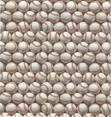 Baseball Heavy Gift Wrapping Paper - 6 Ft Sheet