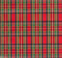 Royal Stewart Tartan Plaid Heavy Embossed Gift Wrap - 30 In x 6 Ft Sheet