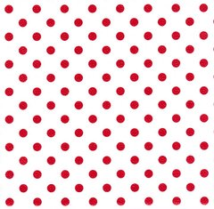 Red Polka Dots Heavy Gift Wrapping - 6 Ft Sheet