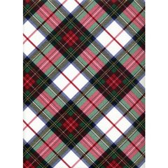 White Dress Tartan Plaid Heavy Embossed Gift Wrapping Paper - 30 Ft Roll