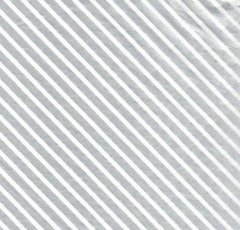 Silver Foil Stripe Christmas Tissue Paper - 10 Sheets
