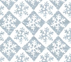 Silver Snowflake Check Christmas Tissue Paper - 10 Sheets