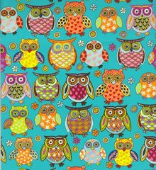 Owlie Owls Gift Wrapping Paper - 5 Ft Sheet