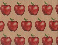 Red Apples Heavy Gift Wrapping Paper - 5 Ft Sheet