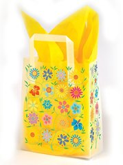 Flower Garden Frosty Gift Bags - Three Gift Bags