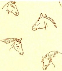 Horses on Ivory Tissue Paper - 10 Sheets