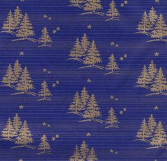 Gold Foil Christmas Trees & Stars Tissue Paper - 120 Sheets