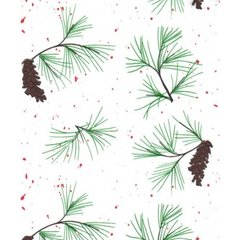 Red Pine Christmas Tissue Paper - 10 Sheets