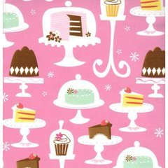 Cakes & Cupcakes Heavy Embossed Gift Wrapping Paper - 30 Ft Roll
