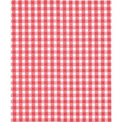 Small Red Gingham on White Tissue - 120 Sheets