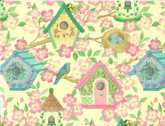 Bird Houses Gift Wrapping Paper - 6 Ft Sheet