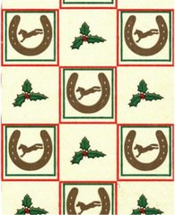 Christmas Horse Shoes Tissue Paper - 240 Sheets