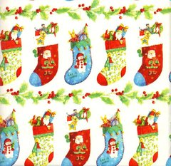 Christmas Stockings Gift Wrapping - 6 Ft Sheet