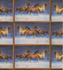 Snow Horses Heavy Gift Wrapping Paper - 100 Ft Roll