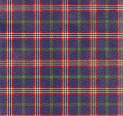 Blue Tartan Plaid Heavy Embossed Gift Wrapping - 6 Ft Sheet