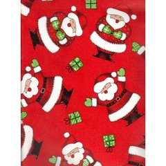 Happy Santas Embossed Christmas Gift Wrapping Paper - 6 Ft Sheet