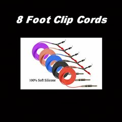 Purple, Red & Blue SILICONE CLIP CORD 8ft