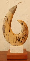 Hawaiian Style Circle Fish Hook Sculpture 22
