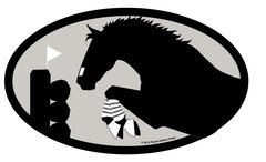 ES Eventer Euro Oval Sticker: Event Horse