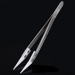 Insulated Zirconia Ceramics Bent Nose Tweezer