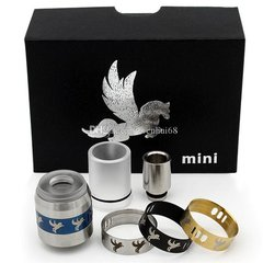 Dark Horse Mini RDA Stainless with 3 Replacement AFC Rings (Styled)