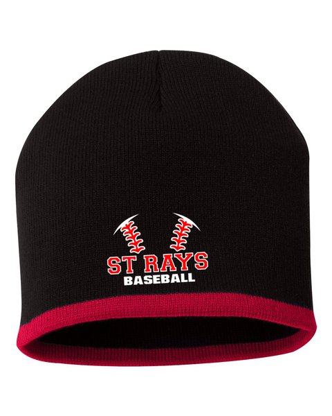 St Rays Black/Red Beanie Hat | Rescue Uniforms