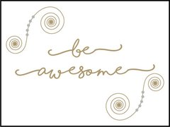 Be Awesome - Southern Sparkle Flash Card