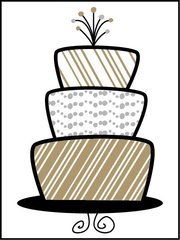 Cake - Southern Sparkle Flash Card