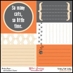 Journal Cards - Crazy Cat Lady