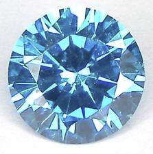 ROUND FACETED AAA RATED BLUE TOPAZ CUBIC ZIRCONIA (1-18mm)