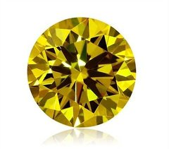 ROUND FACETED AAA RATED CANARY CITRINE YELLOW CUBIC ZIRCONIA (1.5-30mm)