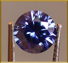 ROUND FACETED AAA RATED SAPPHIRE BLUE CUBIC ZIRCONIA (1-18mm)