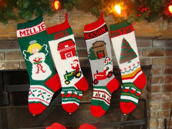 Hand Knit Christmas Stockings Mama Jeans Christmas Stockings