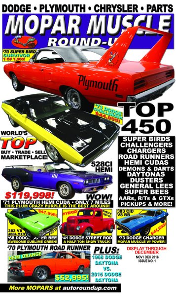 Mopar Muscle Round-Up (Nov / Dec) 2016