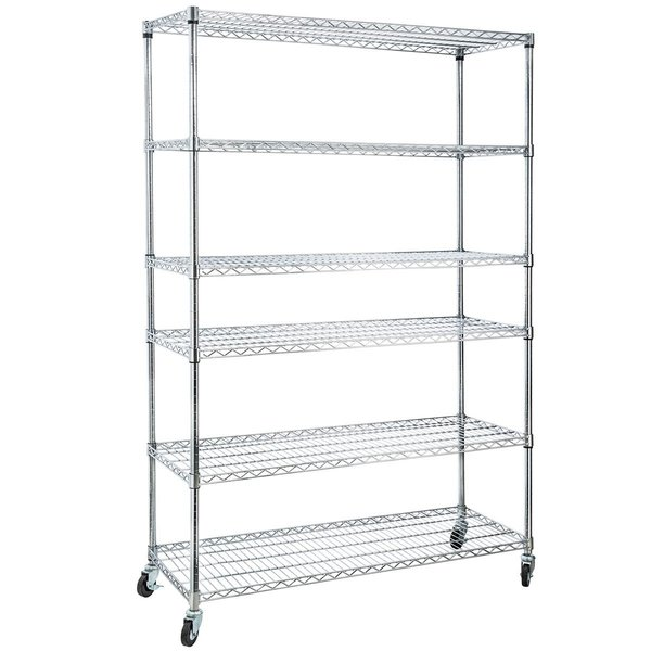 Home It 6 Shelf Commercial Adjustable Steel Shelving
