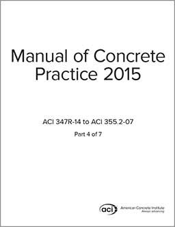 aci standards  manual of concrete practice  aci mcp 4