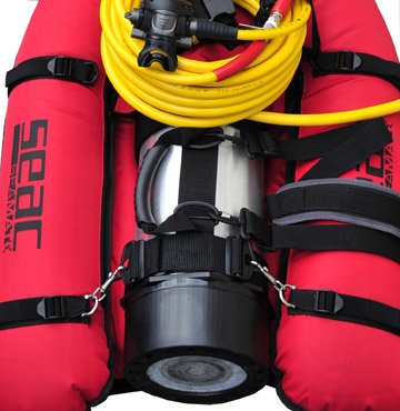Hookah float system scuba tank float surface supplied diving safety first diving - Floating dive compressor ...