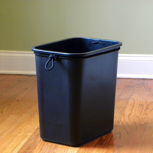 Wondrbasket Office Trash Can With Built In Elastic Cord