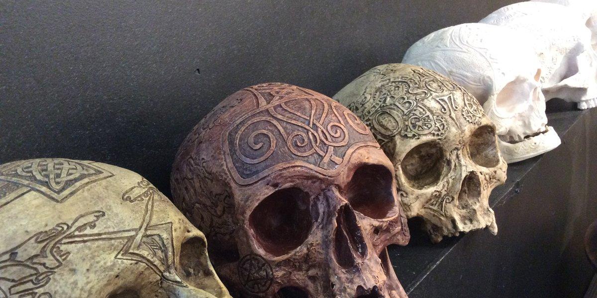 Zane wylie carved real human skulls