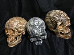 Free Mason Lodge Skull Set Carved By Zane Wylie